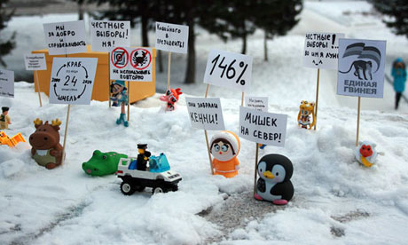 Doll 'protesters' present small problem for Russian police, guardian.co.uk