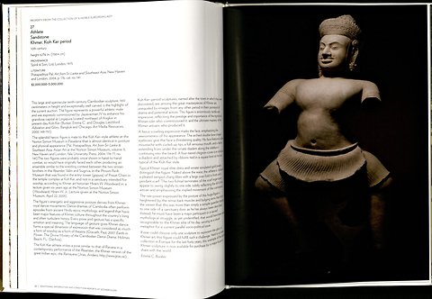 A 2011 Sotheby's catalog sA 2011 Sotheby's catalog shows a thousand-year-old statue believed to be from the Koh Ker temple in Cambodia. (New York Times)
